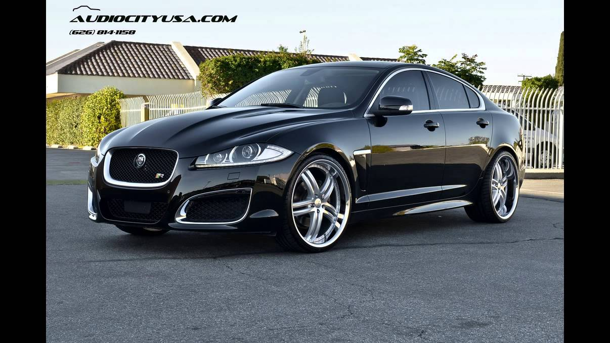 "Jaguar XFR 2012 Supercharged on 22"" XIX X15 Silver wheels - YouTube"