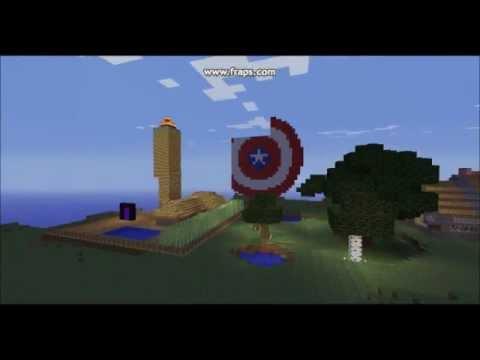 bouclier captain america sur minecraft youtube. Black Bedroom Furniture Sets. Home Design Ideas