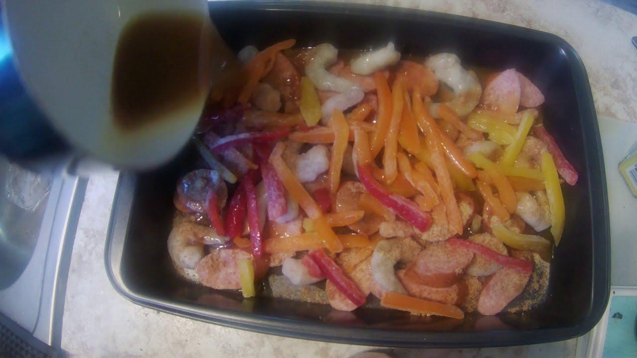 Smoked Cajun Shrimp & Kielbasa