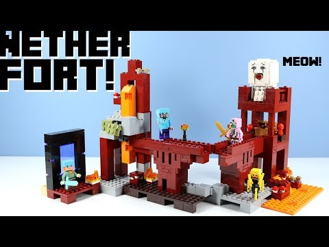 Thumbnail: LEGO Minecraft The Nether Fortress 21122 with Ghast!