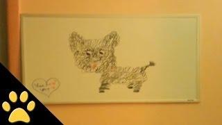 Dog Barks At Dog Art