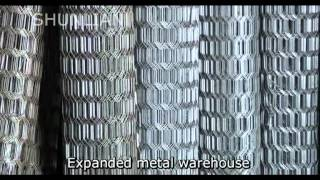 Expanded metal production line and types.