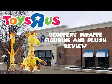Toys R Us Geoffrey Giraffe Figurine And Plush Review Youtube