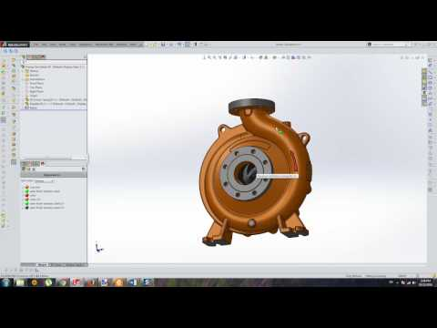End Suction Centrifugal Pump-CFD Analysis (SolidWorks Flow Simulation)