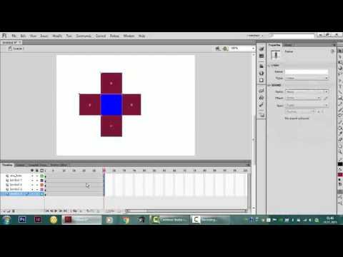 adobe flash player cs6 da 3d rotation tool aracını kullanarak 3d animasyon yapımı