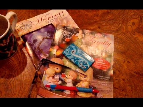 ASMR, Flipping Thru Precious Moments Christmas Catalogs, Whispers, Drinking, Chewing Bubble Gum