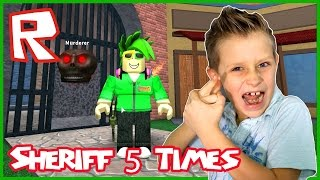 Sheriff 5 Times in a Row / Roblox Murder Mystery
