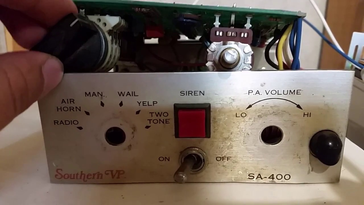 Svp Siren Wiring Diagram Books Of Southern Vp Sa 400 Repair Youtube Rh Com