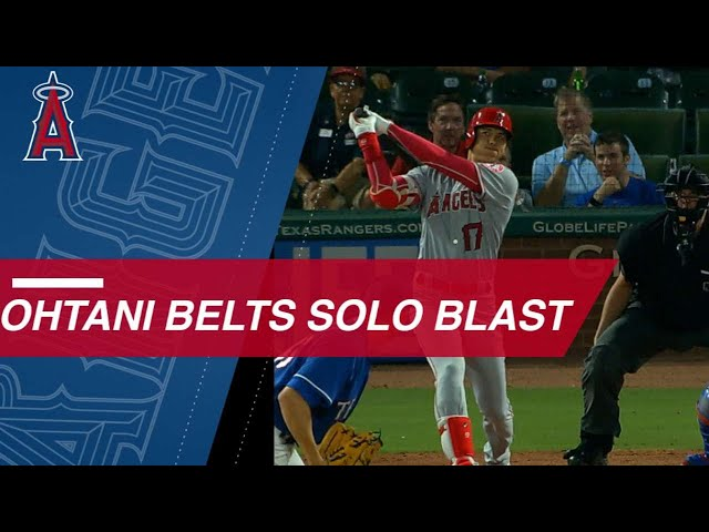 Ohtani belts a solo smash for 16th homer of the year