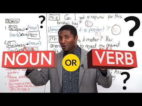 NOUN or VERB? Listen for the word stress
