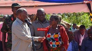 Rais Magufuli kafuta machozi ya Mama asiyeona, DC chupuchupu atumbuliwe