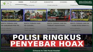 Polisi Ringkus Direktur Aktual TV Bersama Dua Anak Buah Kasus Penyebaran Konten Hoax