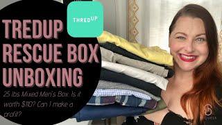 ThredUp Rescue Box Men's 25lb Mix Clothing   Hit or Miss? Is it worth $110?   Reseller Poshmark eBay