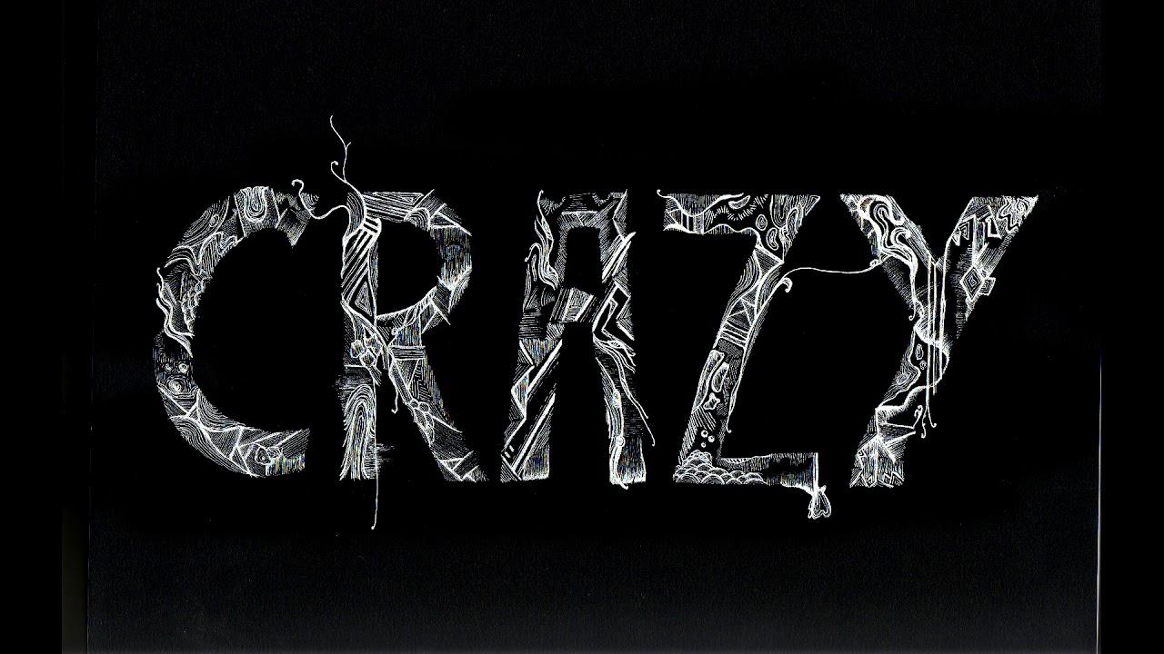 Картинка с надписью сумасшедший