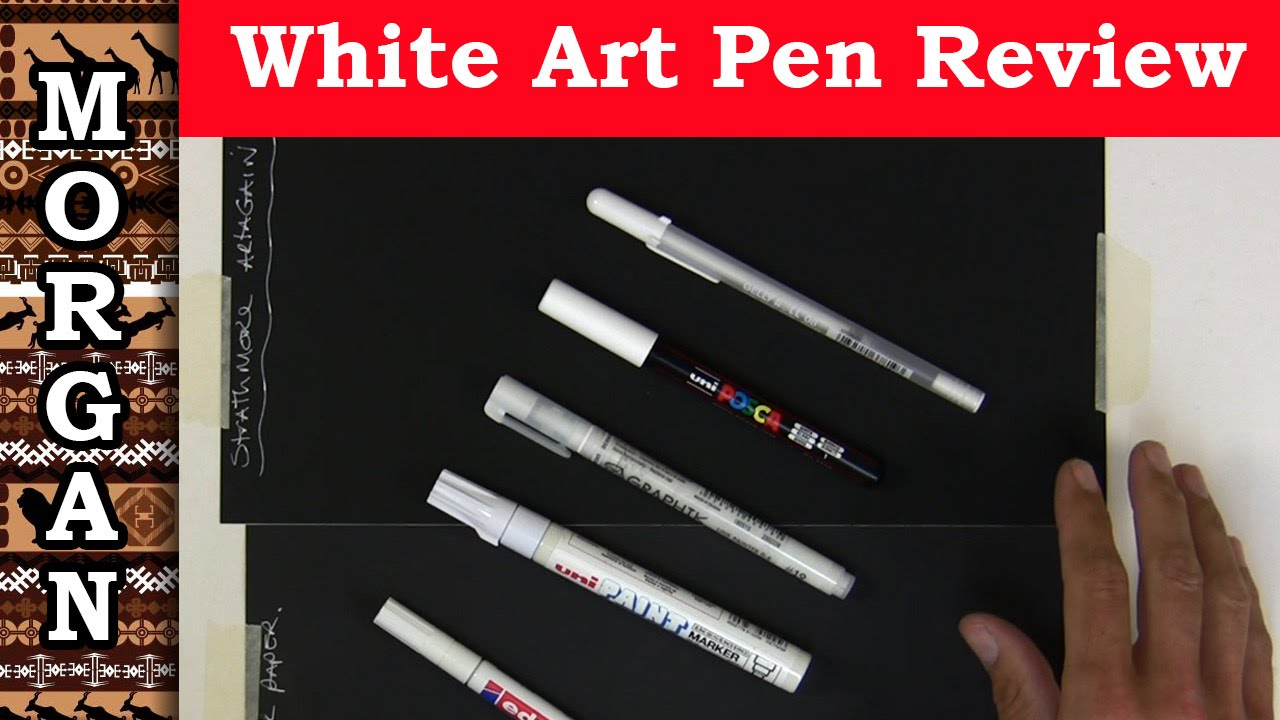 Best White Pens For Art Gelly Roll Derwent Uni Etc