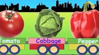 Learn Vegetable Train - learning for kids