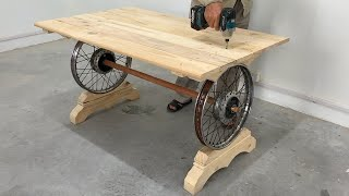 Amazing Homemade Ideas Most Worth Watching For Woodworking Projects Recycled From Discarded Wheels