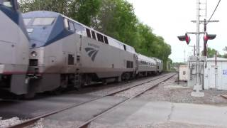 HD Amtrak 686 w/ extra equipment at Cemetery Crossing 5/23/16