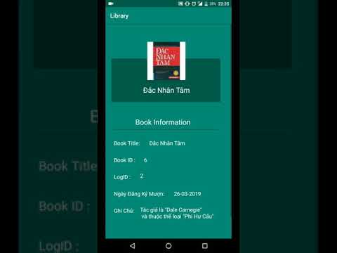 Quản Lý Thư Viện android - Library management application code android