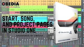 PreSonus—Studio One 4: Start, Song, and Project Pages in Studio One