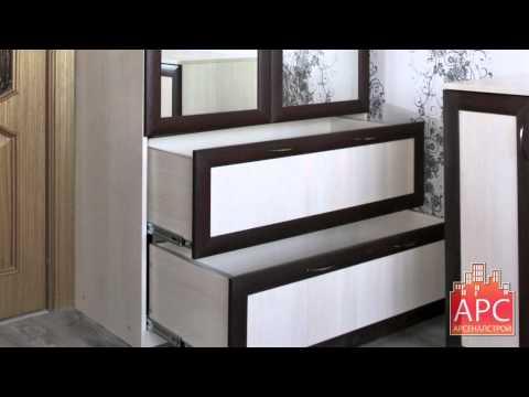 Шкаф и комод в гостиной комнате под заказ