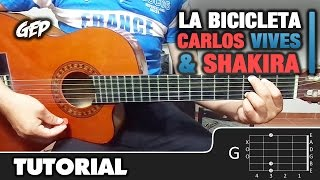 como tocar la bicicleta de carlos vives shakira en guitarra acustica tutorial hd acordes