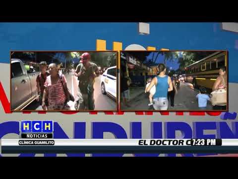 Fuerte Caravana sale de La Ceiba hacía la frontera de Aguas Calientes