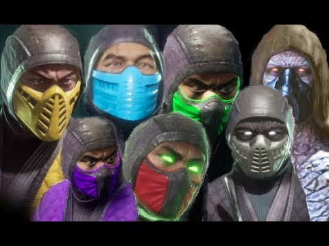 Mortal Kombat Scorpion Sub Zero Reptile Ermac Tremor Rain Smoke