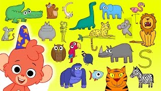 Animal ABC | Learn the alphabet with 26 animals for children | ABC Wild Animals and Sounds 2018