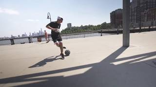 AMAZING FREESTYLE FOOTBALL IN NEW YORK CITY!