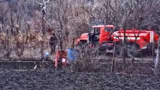 зил 131 пожарная машина АРС-14ПМ авторазливочная станция на тушении пожара(, 2015-07-02T10:03:21.000Z)