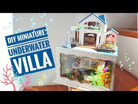 DIY Miniature Underwater Hawaiian Villa Dollhouse