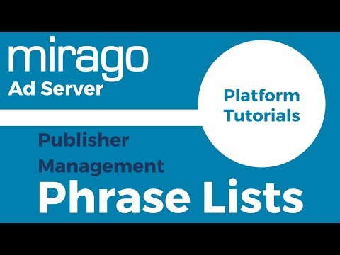 Publisher Phrase Lists