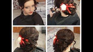 Вечерняя прическа на длинные волосы. Wedding prom hairstyle tutorial(Мой 2 КАНАЛ О МАНИКЮРЕ ___ https://www.youtube.com/channel/UCDyrToyCf2Xatn6m9sgOyDg Подписывайтесь на канал, чтобы не пропустить новые..., 2015-10-25T15:20:08.000Z)