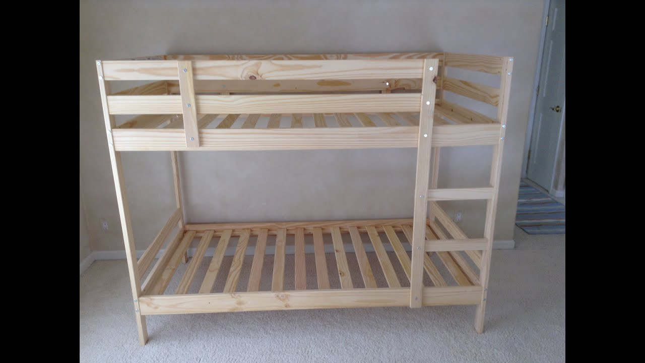 Ikea Etagenbett Mydal : Ikea mydal bunk bed assembly tips and tricks tutorial youtube