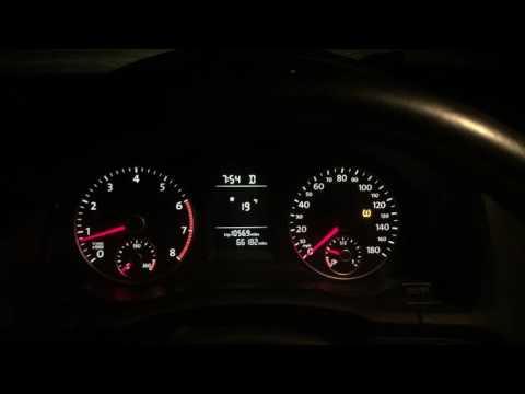 Hidden VW km/h Display