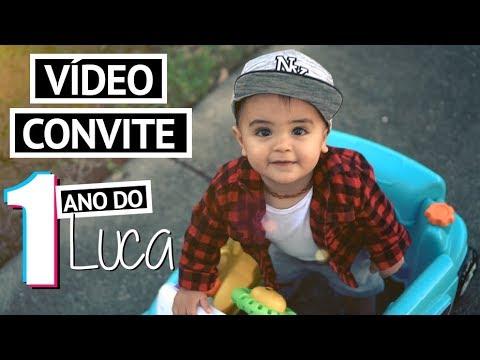FESTA DE 1 ANO DO LUCA - Vídeo convite