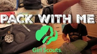 PACK WITH ME! | Overnight Girl Scout Camping Trip