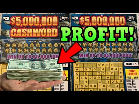HOW MUCH PROFIT ON THESE NEW SCRATCH OFFS - FLORIDA LOTTERY CASHWORD TICKETS