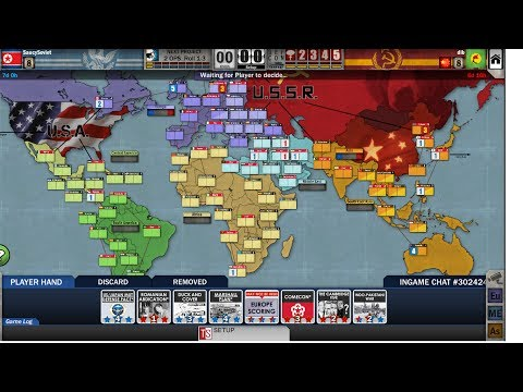Twilight Struggle (Steam): Online game #5 (USSR, US+1)