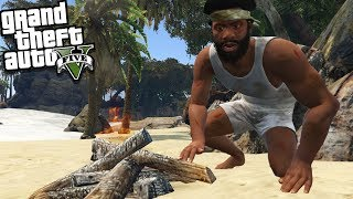 FRANKLIN gets LOST on an ISLAND (GTA 5 Mods)