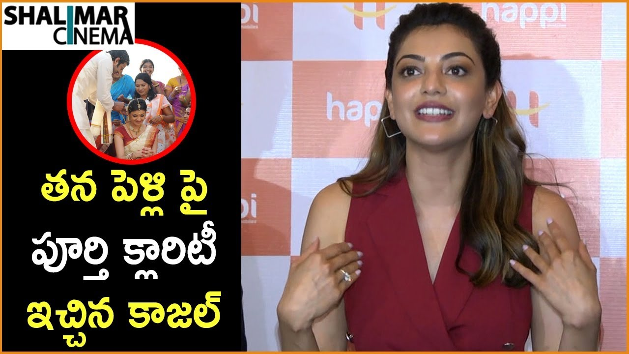 Download Kajal Reveal About Her Marriage Date At Press Meet    Happi Mobile Store Launch    Shalimarcinema