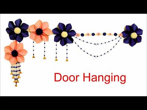 Beautiful Handmade Door Hanging Using Paper on Budget|| DIY Wall Hanging|| Toran making Ideas