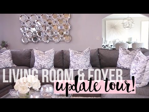 Living Room & Foyer Update Tour 2016 | New Furniture #HOUSETOHOME Ep. 9