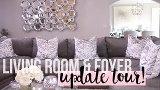 Living Room & Foyer Update Tour 2016 | New Furniture #HOUSETOHOME Ep. 9(Today's video is another episode of #HouseToHome! In this home tour I will be sharing with you guys our updated living room area. We recently got new ..., 2016-04-12T00:00:23.000Z)