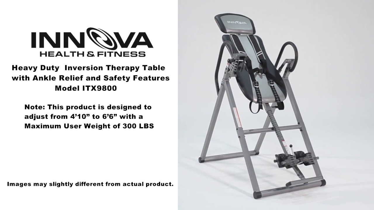 Maximum Heavy Duty Workbench Old Version Innova Fitness Itx9800 Inversion Table Installation Guide