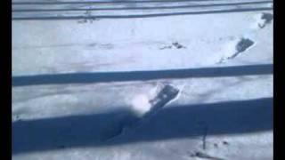 Таинственные следы  (снежный человек в Москве?)