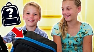 Julie & Russell's New School Backpack Haul & GIVEAWAY
