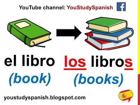 Spanish Lesson 60 - PLURAL NOUNS In Spanish SINGULAR And PLURAL Rules Making Nouns Plural