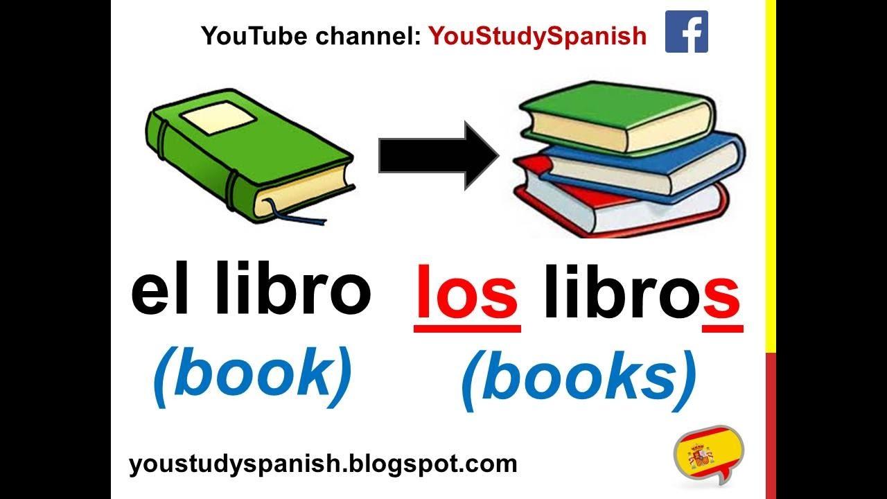 Spanish Lesson 60 - PLURAL NOUNS in Spanish SINGULAR and PLURAL ...